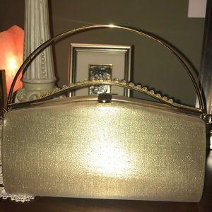 Handbags - Gold clutch bag